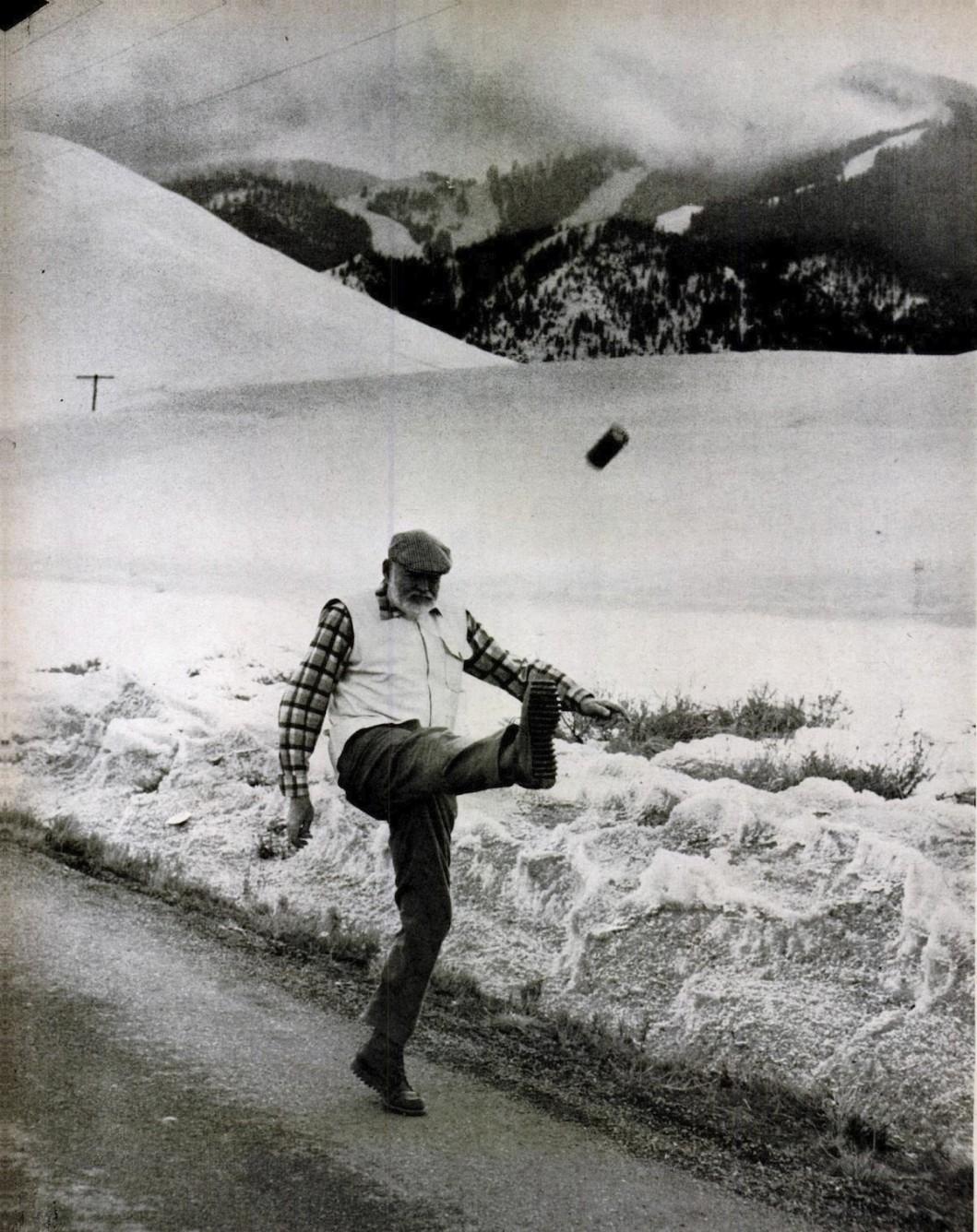 BRYSON_1959_Hemingway_kicks_can