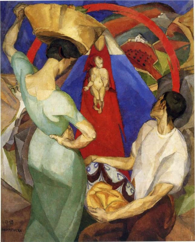 Diego Rivera, The Adoration of the Virgin, 1913