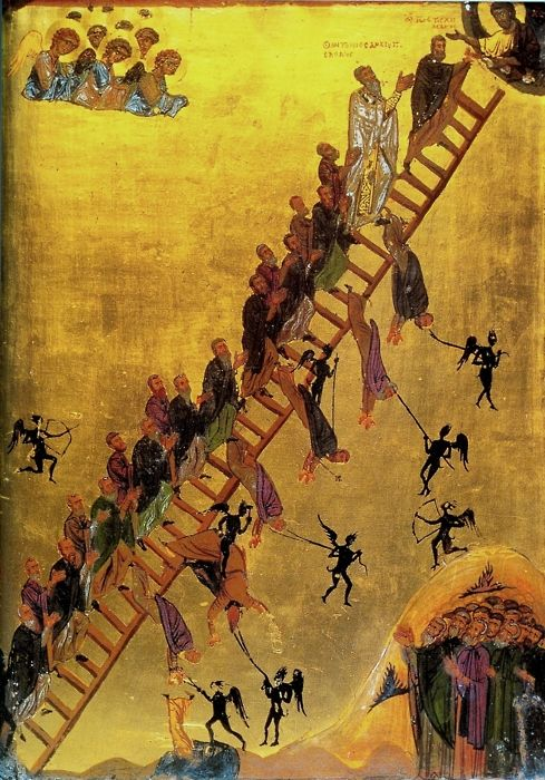 The Ladder of Paradise. Greek, c.1200.
