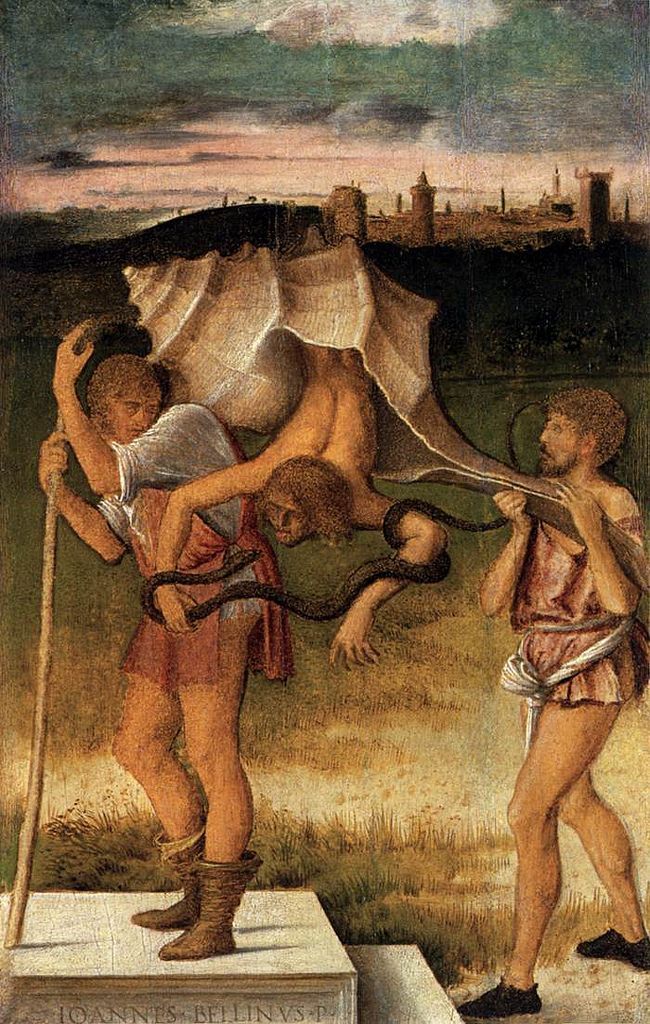 B ] Giovanni Bellini - Four Allegories - Falsehood (or Wisdom) (c.1490)