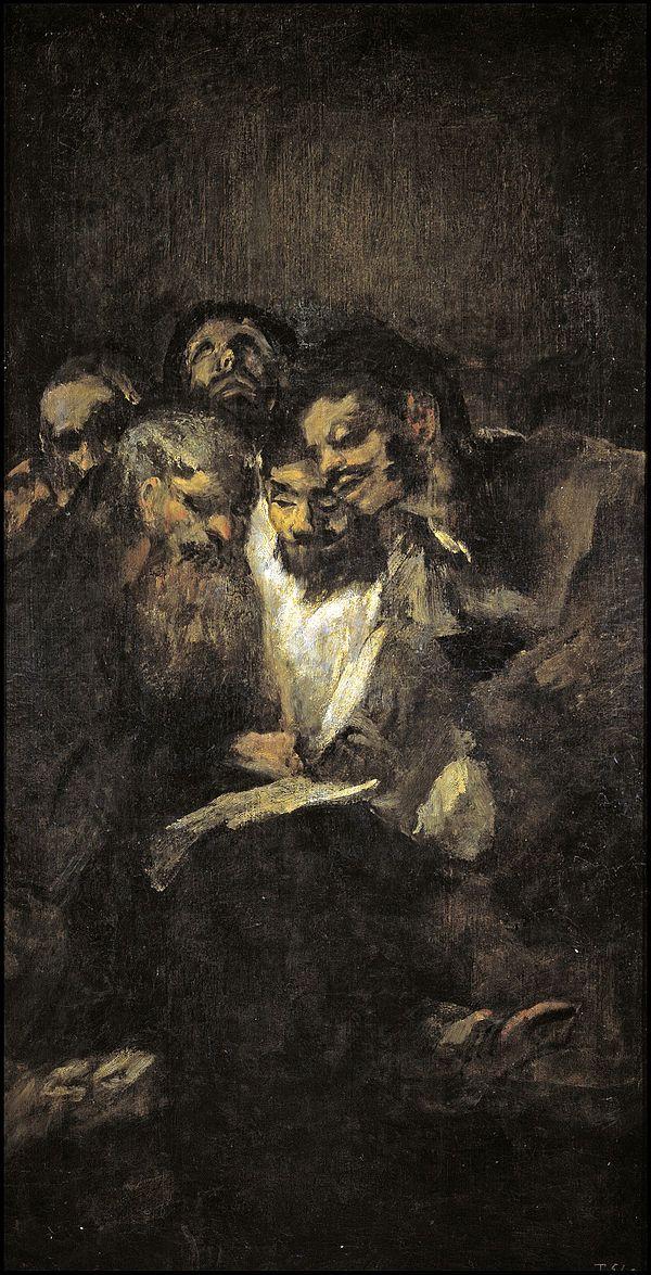 Men Reading, Goya